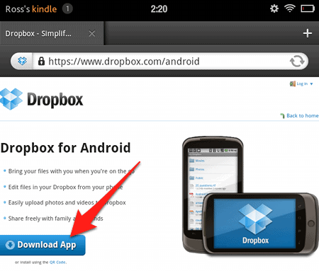 how to give files over dropbox