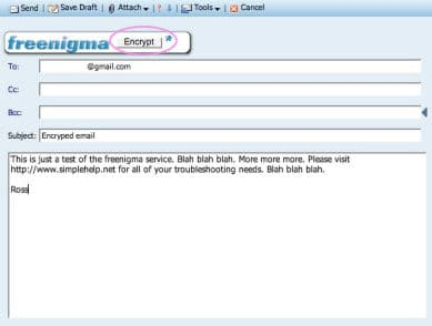 Freenigma encryption tool for gmail hotmail yahoo