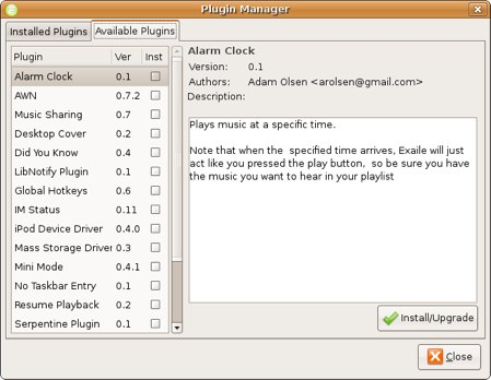 exaile music player