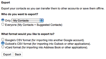 How to import your Gmail contacts into Outlook 2007