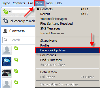 How to integrate your Skype and Facebook accounts
