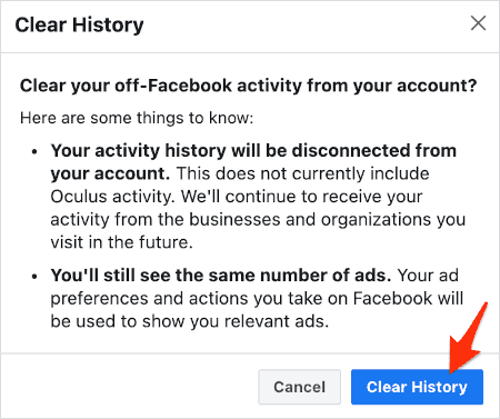 a Clear History button