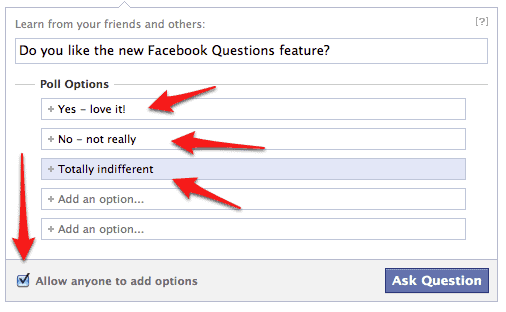 now your poll will show up on your facebook wall and the news feed for your friends again pending their specific settings