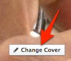 facebook change cover button