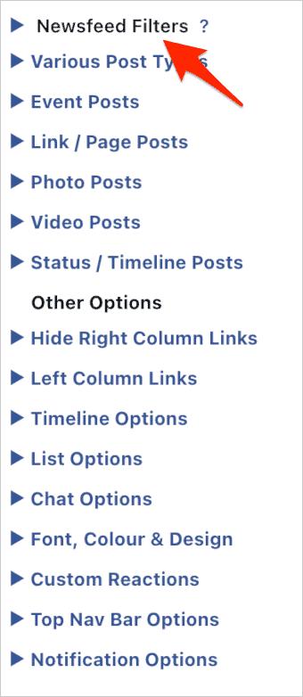 remove sponsored facebook content settings