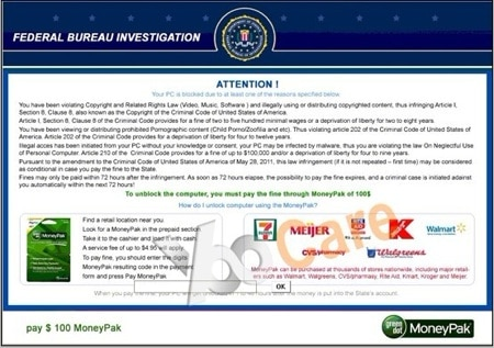 second fake fbi virus screenshot example