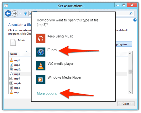 changing the default MP3 App