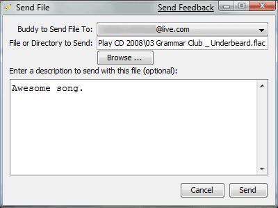 filephile sending a file