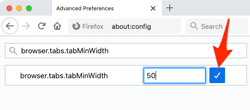 decrease width of firefox tabs from 76 to 50