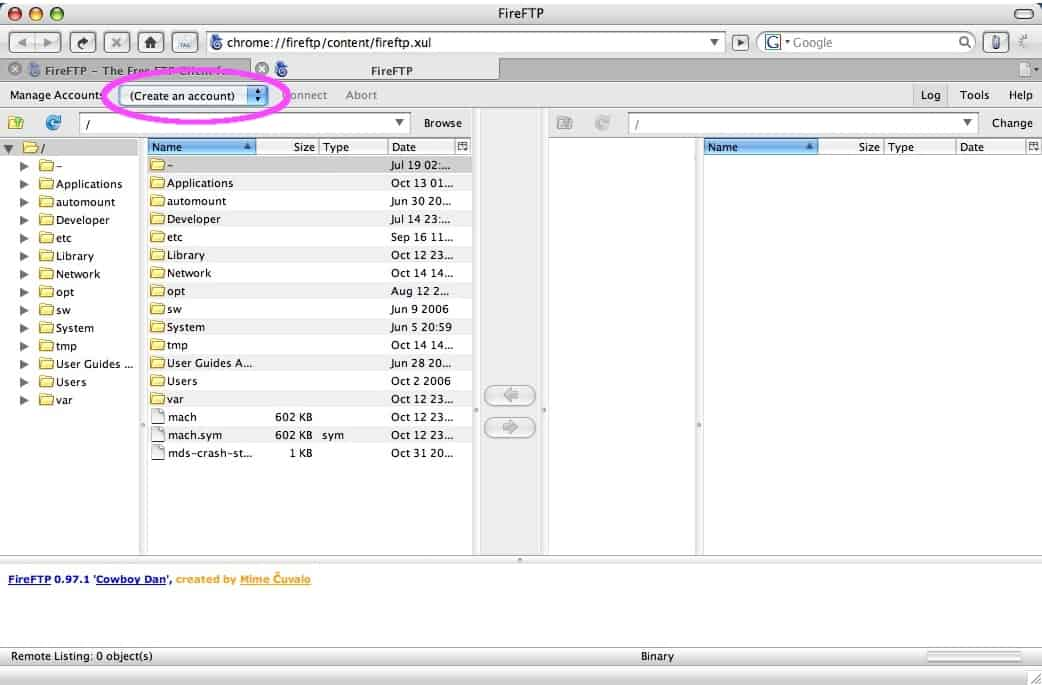 How to use FTP from within Firefox