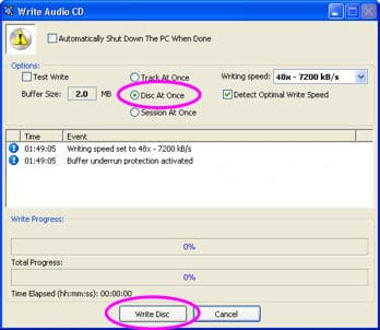 create an audio cd with cdburner xp pro