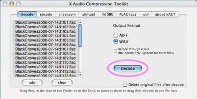 decoding flac files