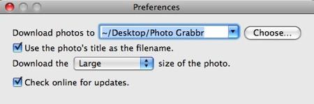 photo grabbr preferences
