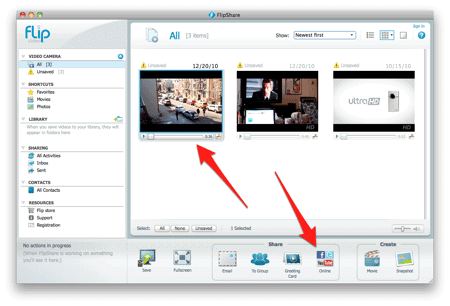 FlipShare software on a Mac