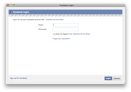 secondary facebook sign-in page