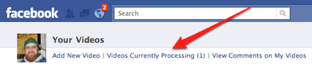 a video processing on Facebook
