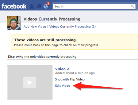 editing a video on Facebook