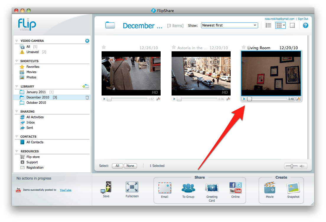 How to upload your Flip Videos to YouTube