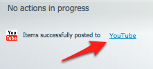 an arrow pointing at a link titled YouTube