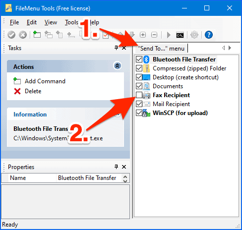 editing the Send To Windows context menu