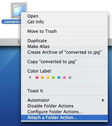Folder actions for os x explained with real world for Folder action