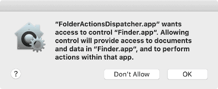 a macOS additional Permission request