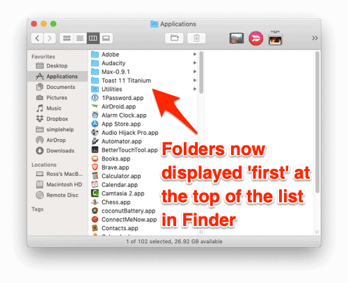 How to Display Folders First in Finder (macOS)