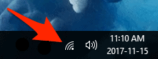 the Network icon in the Windows System Tray
