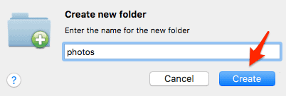 naming a folder in Cyberduck