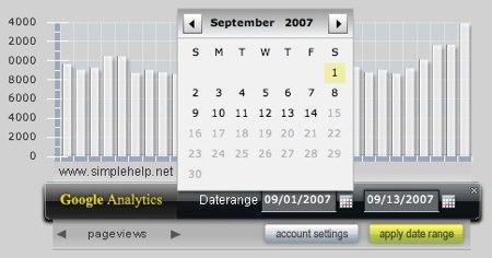 google analytics air widget