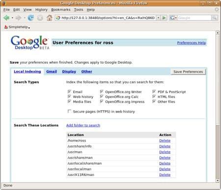 google desktop for linux