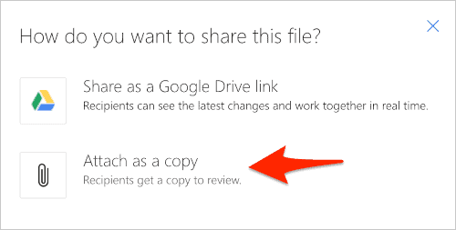 the attachment options for outlook.com emails from Google drive