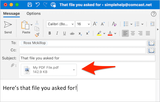 docs attached to an email in Outlook from Google Drive
