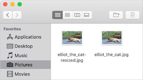 a Finder window with two image files