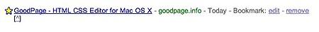 editing google bookmarks
