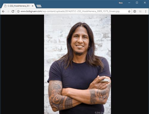 captura de pantalla de Chrome que muestra una imagen de tamaño completo