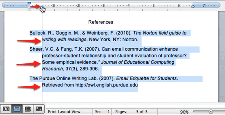 """How to Add """"Hanging Indents"""" to a Word Document in OS X"""