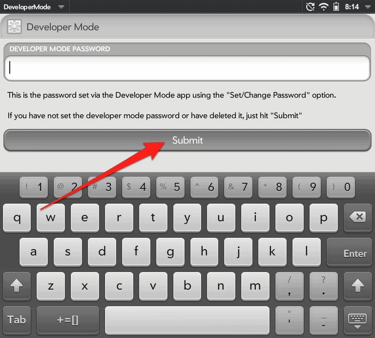 How to Enable Developer Mode on your HP TouchPad