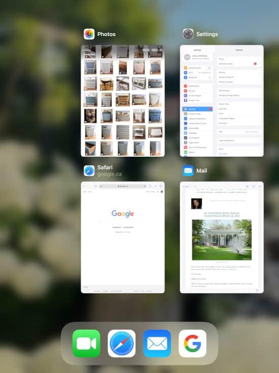 the iPadOS App switcher