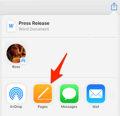 an arrow pointing to a Pages button