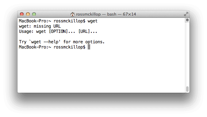 How to Install wget in OS X Lion
