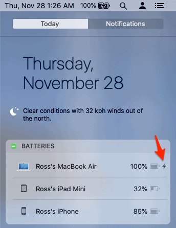 monitor iphone battery on a Mac