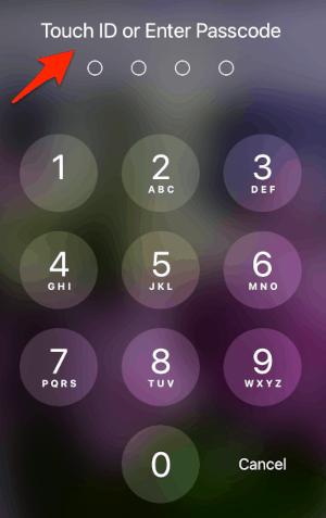 the iPad Lock screen