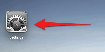 ipad home screen settings button