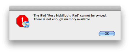 ipad out of memory error