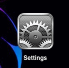 the settings icon for the ipad, iphone and ipod touch