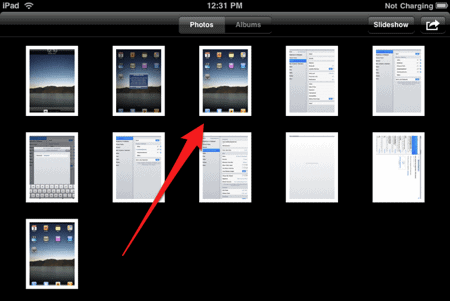 how to take screenshots of an ipad