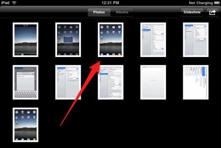 how to take screenshots of an ipad