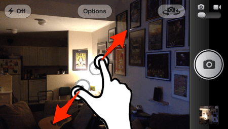 zooming with an iphone or ipad camera