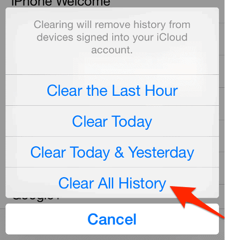 How To Delete Your Iphone Browser History